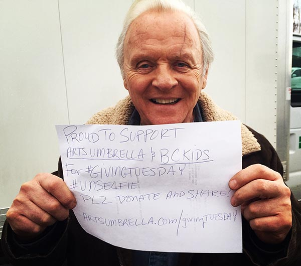 Sir Anthony Hopkins supports Arts Umbrella for #GivingTuesday