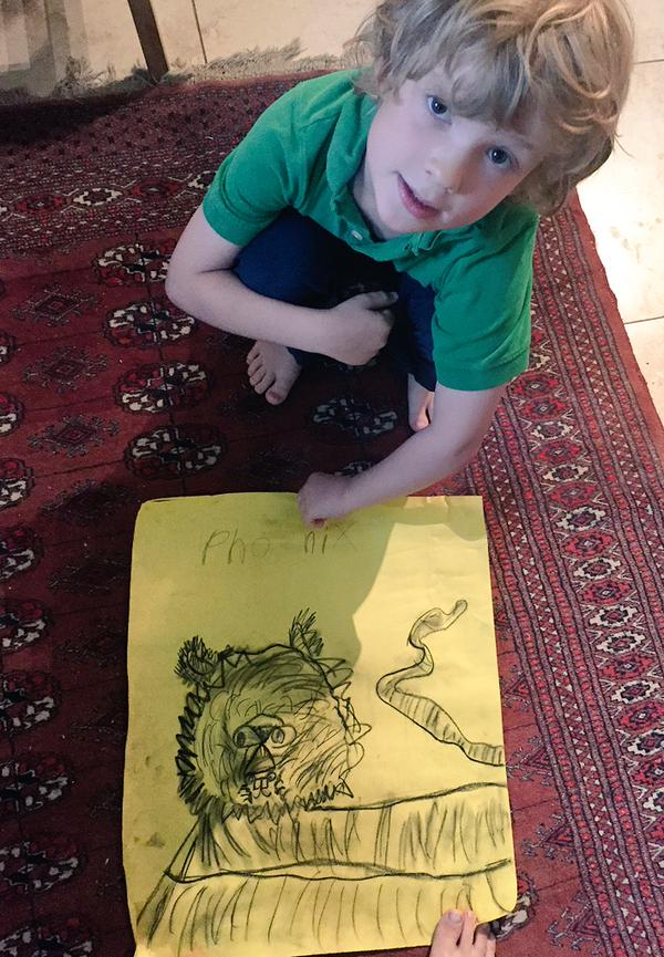 Phoenix shares his weekly Arts Umbrella Master Piece with us.  Thanks S. Siobhan McCarthy for sharing with us.