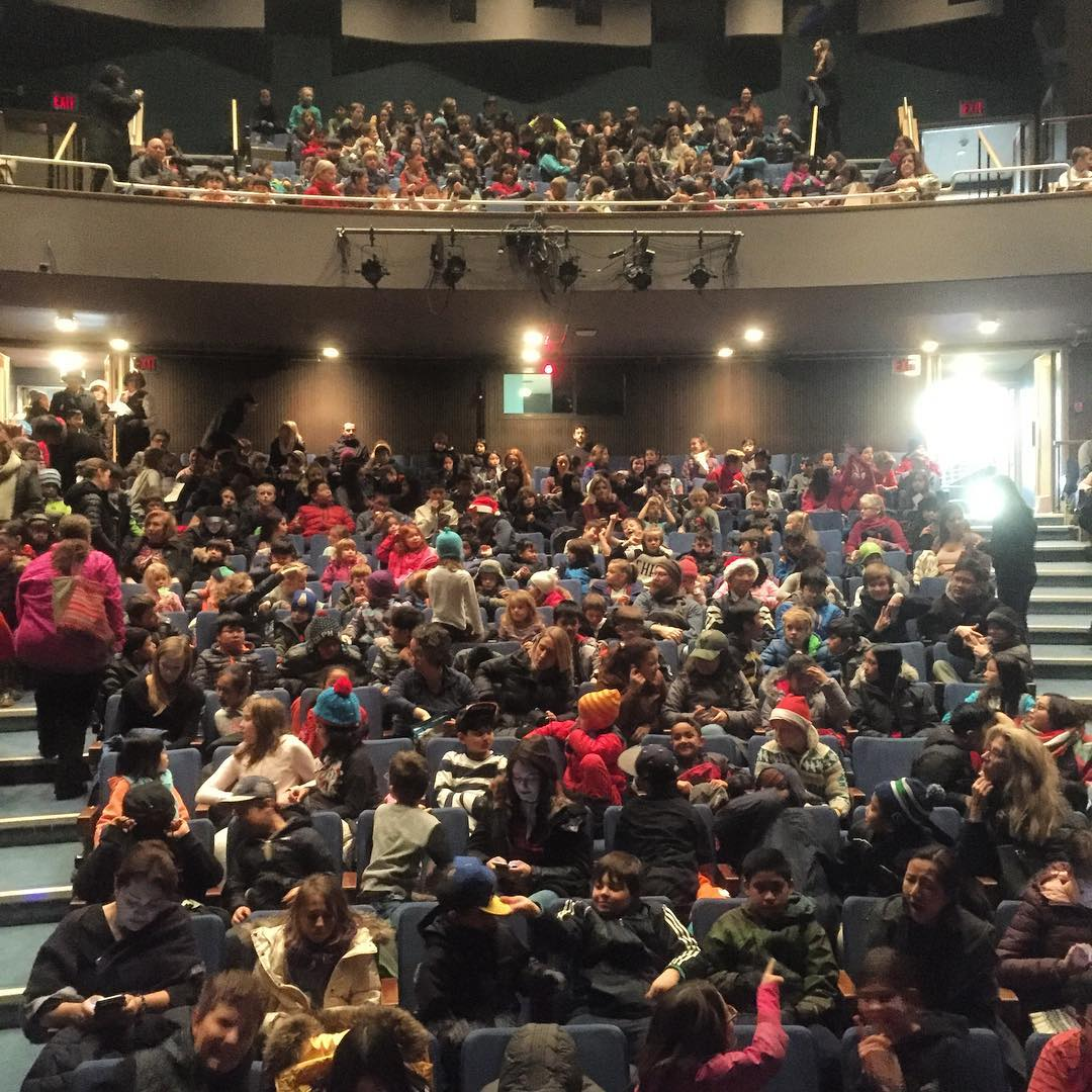 The fabulous crowd at @artsumbrelladance's school shows. Did you know? Our talented dancers worked hard to put on not just one, but 6 fabulous performances to over 4,000 kids for free!  Photo by @artsumbrelladance