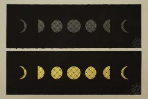 Moon Cycle Glow I-II, Serigraph, Alex Cu Unjieng