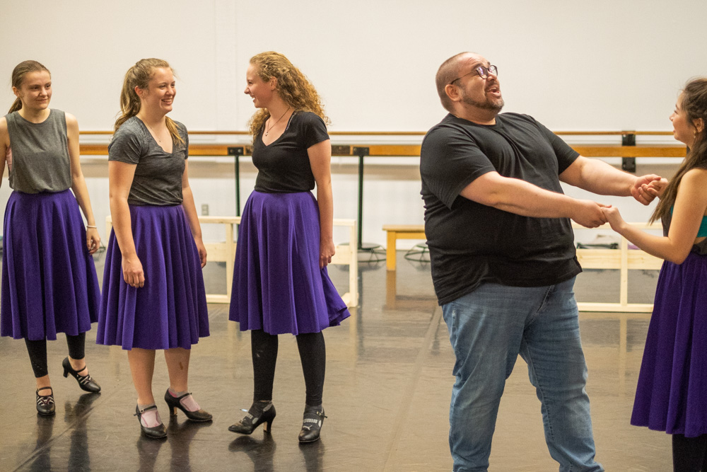 Arts Umbrella Musical Theatre Troupe in rehearsals for Oklahoma!