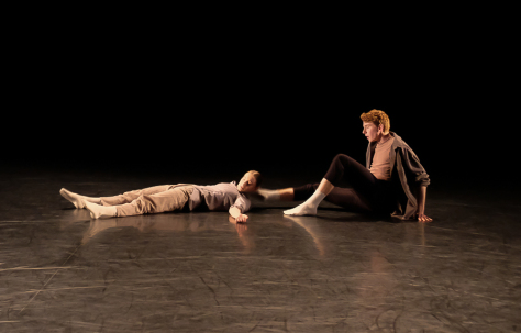 "A scene from ""We Move in Circles"" by Anna Bekirova and Sophie Whittome. Photo by Marie Lee"