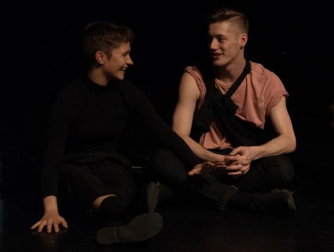 Choreographers Sophie Mueller-Langer and Dex Van Ter Meij. Photo by Chris Wong