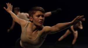 "A scene from ""Attached to Love"" by Jordan Pelliteri and Sophia Shaw. Photo by Chris Wong"