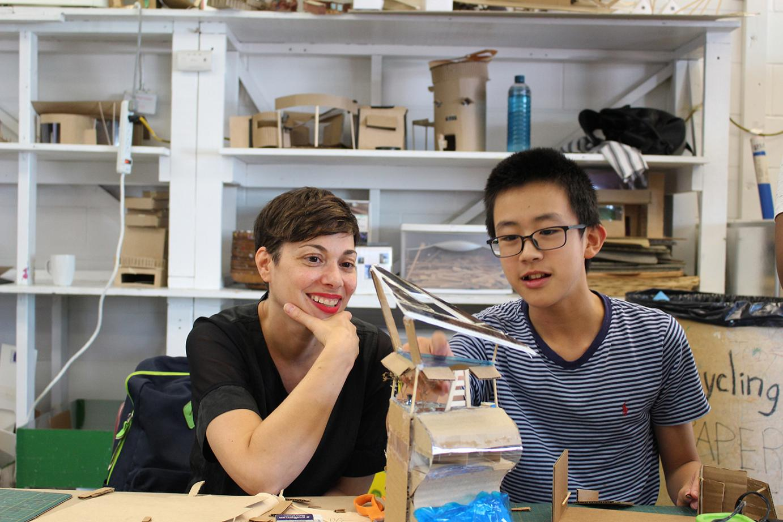 Marianne Amodio with Arts Umbrella Architecture Intensive student