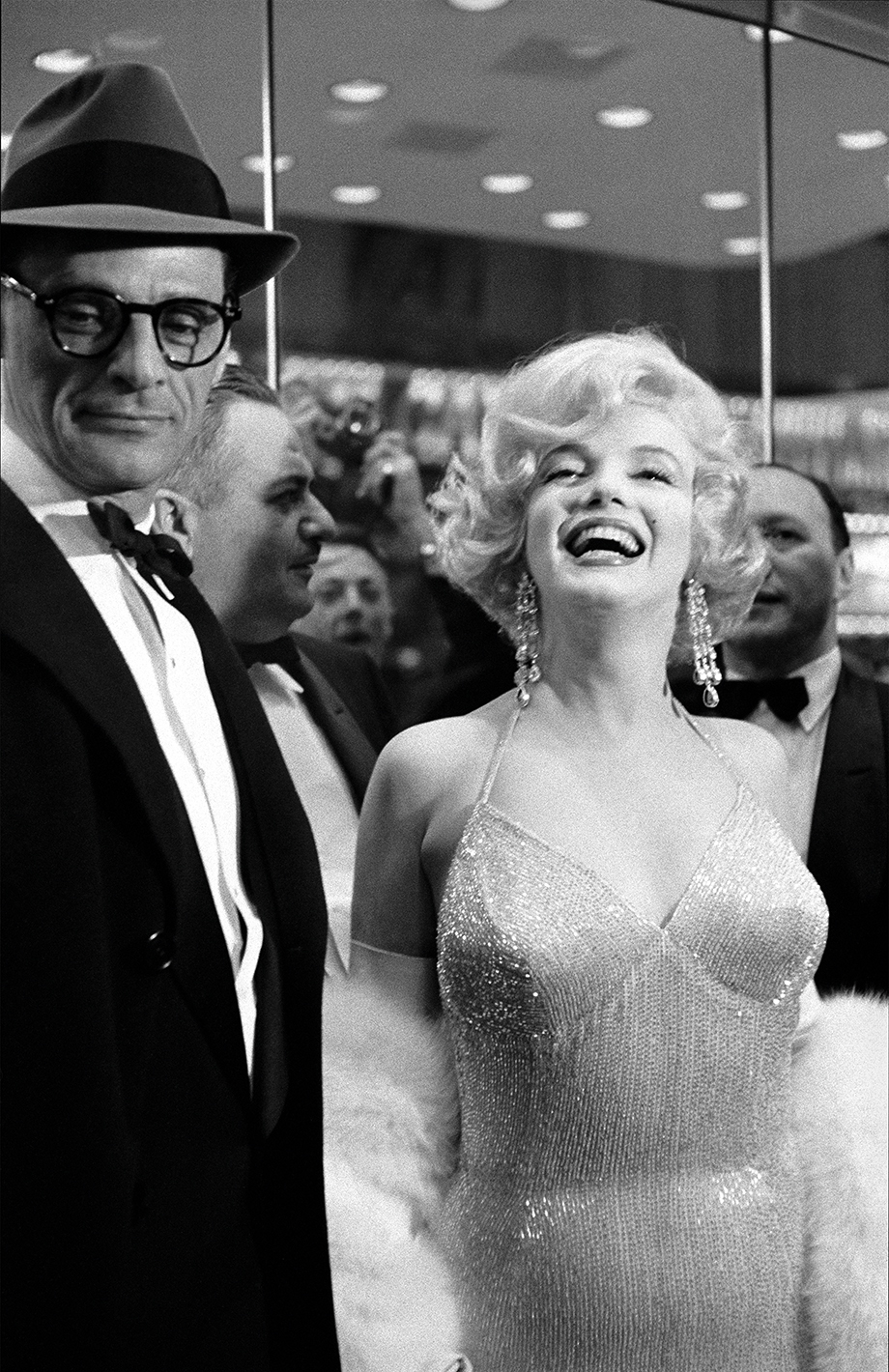 Marilyn Monroe and Arthur Miller, Times Square opening of Billy Wilder's