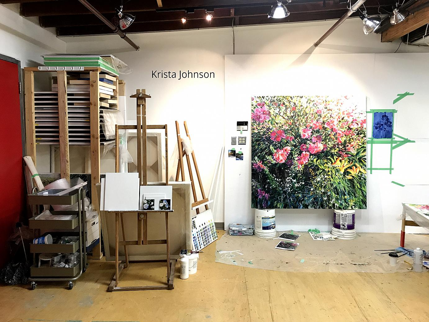 Krista Johnson artist studio