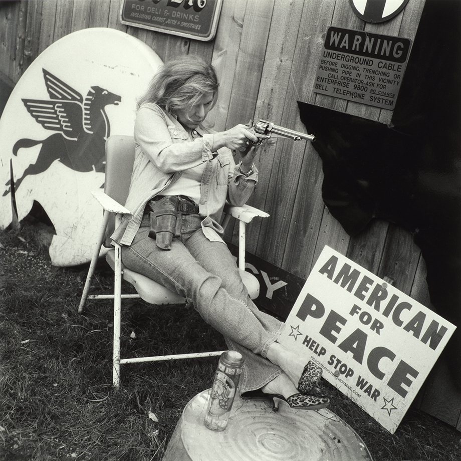From the series 'Shot in America–Portraits of Texas Women with their Guns,' 2004