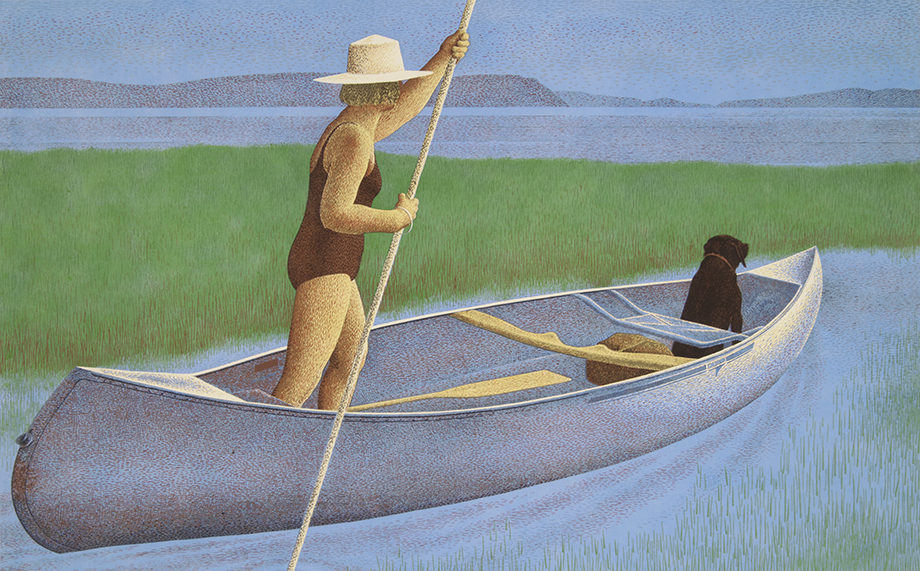 Woman, Dog and Canoe, 1982