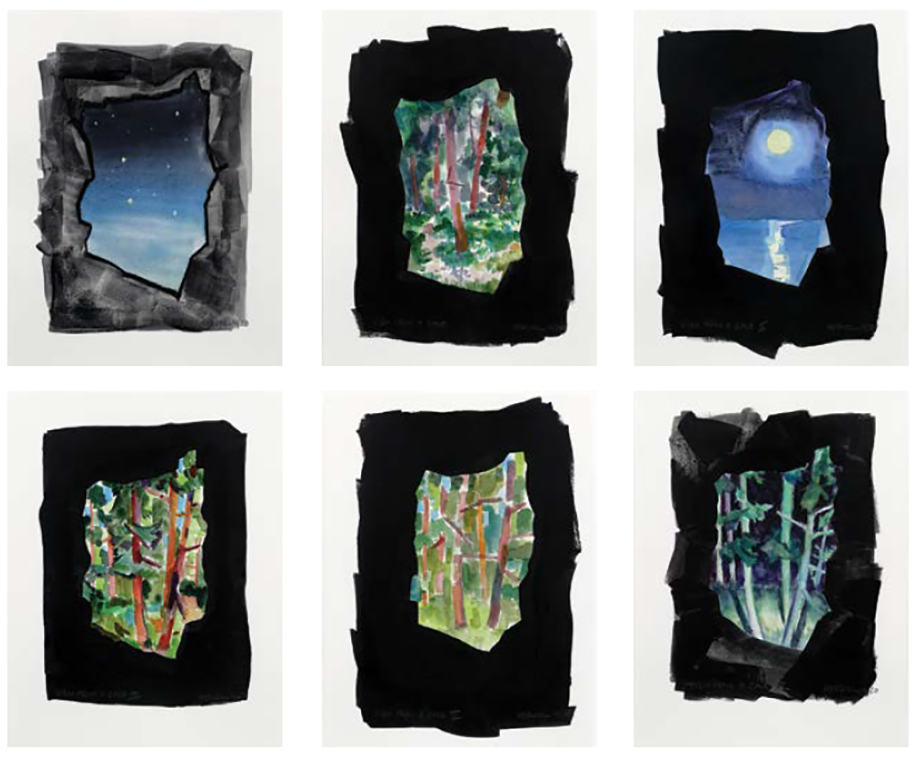 View From a Cave (set of six), 2020